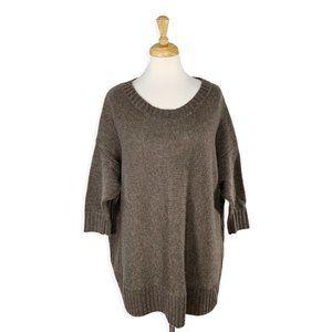 Zara Knit Boxy Oversized Wool Blend Sweater
